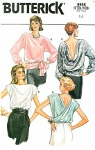 Butterick 6958 Pullover Blouses Size 14