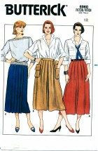 Butterick 6960 Straight or Flared Skirt Size 12