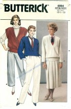 Butterick 6964 Jacket Vest Skirt Pants Size 6 - 10 - Bust 30 1/2 - 32 1/2