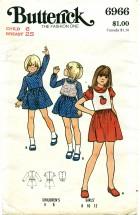 Butterick 6966 Girls Dress & Top Size 6