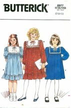 Butterick 6977 Flared Pullover Dress Size 7 - 10