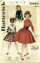 Butterick 9485 Lace Trimmed Dress Size 8