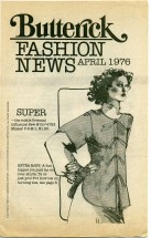 Butterick Fashion News April 1976 Pamphlet