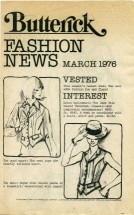 Butterick Fashion News March 1976 Pamphlet