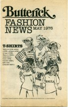 Butterick Fashion News May 1976 Pamphlet