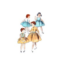 1950s Butterick 8011 Little Girls Jacket and Dress Vintage Sewing Pattern Size 2