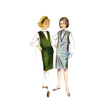1960s Girls Jumper and Blouse Butterick 3197 Vintage Sewing Pattern Size 8