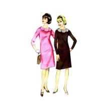 1960s Misses Shift Dress Butterick 3326 Vintage Sewing Pattern Size 14