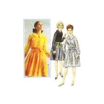 1960s Misses Sheer Sleeve Shirtdress Butterick 3461 Vintage Sewing Pattern Size 10