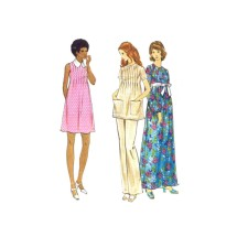 1970s Misses Maternity Dress Tunic Pants Butterick 6697 Vintage Sewing Pattern Size 10 Bust 32 1/2