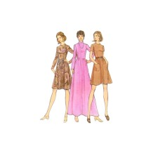 1970s Misses Dress Butterick 6911 Vintage Sewing Pattern Half Size 14 1/2 Bust 37