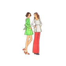 1970s Misses Dress Tunic Pants Butterick 3013 Vintage Sewing Pattern Size 10 Bust 32 1/2