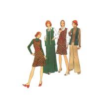 1970s Misses Vest Jumper Pants Butterick 3423 Vintage Sewing Pattern Size 14 1/2 Bust 37