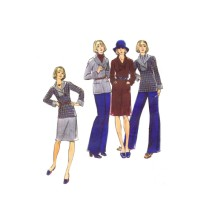 1970s Misses Sweater Dress Skirt Pants Butterick 3440 Vintage Sewing Pattern Size 12 Bust 34
