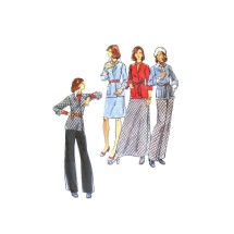 1970s Misses Cardigan Jacket Skirt Pants Butterick 3442 Vintage Sewing Pattern Size 16 Bust 38