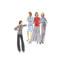 1970s Misses Cardigan Jacket Skirt Pants Butterick 3442 Vintage Sewing Pattern Size 16 Bust 36