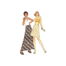 1970s Misses Flared Bias Skirt in Two Lengths Butterick 3457 Vintage Sewing Pattern Waist 24