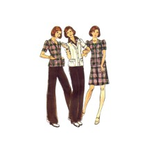 1970s Misses Top Skirt Pants Butterick 3472 Vintage Sewing Pattern Size 8 Bust 31 1/2