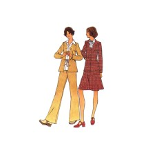 1970s Misses Cardigan Jacket Skirt Pants Butterick 3477 Vintage Sewing Pattern Size 16 1/2 Bust 39