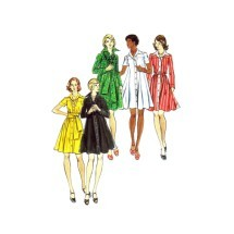 1970s Misses Loose Fitting Dress Butterick 3480 Vintage Sewing Pattern Size 8 Bust 31 1/2