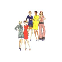 1970s Misses Dress Top Tunic Pants Butterick 3481 Vintage Sewing Pattern Size 16 Bust 38