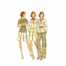 1970s Misses Jacket Skirt Pants Butterick 3582 Vintage Sewing Pattern Size 12 Bust 34