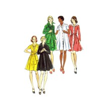 1970s Misses Loose Fitting Dress Butterick 3480 Vintage Sewing Pattern Size 16 Bust 38