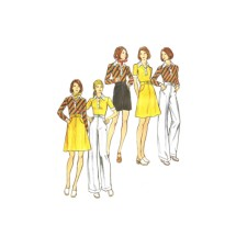 1970s Misses Top Skirt Pants Shorts Butterick 3536 Vintage Sewing Pattern Size 16 Bust 38