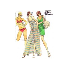 1970s John Kloss Bikini and Cover Up Butterick 3698 Vintage Sewing Pattern Size 10 Bust 32 1/2