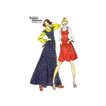 1970s Betsey Johnson U-Neckline Jumper Butterick 3849 Vintage Sewing Pattern Size 5 Bust 31