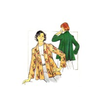 1970s Misses Shawl Collar Swing Jacket Butterick 3930 Vintage Sewing Pattern Size 16 Bust 38