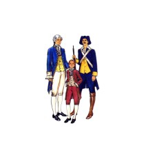 Mens 1776 Bicentennial Military and Statesman Costume Butterick 4207 Vintage Sewing Pattern Chest 42