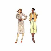 Butterick 6378 Misses Vest and Dress Vintage Sewing Pattern Size 10 Bust 32 1/2