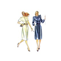 1980s Misses Loose Fitting Dress Butterick 3414 Vintage Sewing Pattern Size 10 Bust 32 1/2