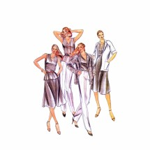 Misses Jacket Top Skirt Pants Butterick 3668 Vintage Sewing Pattern Size 16 Bust 38