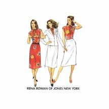 Rena Rowan Jacket Blouse Skirt Butterick 6991 Vintage Sewing Pattern Size 14 Bust 36
