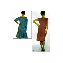 1980s Misses Bateau Neck Top and Flared Skirt Butterick 4269 Vintage Sewing Pattern Size 12 - 14 - 16