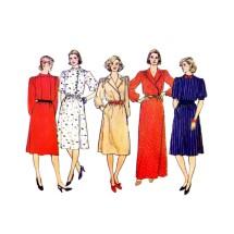 Misses Surplice Evening Dress Butterick 4600 Vintage Sewing Pattern Size 12 - 14 - 16