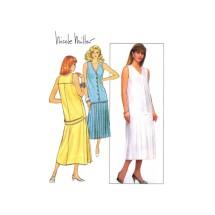 Nicole Miller Drop Waist Dress Butterick 5589 Vintage Sewing Pattern Size 10 Bust 32 1/2