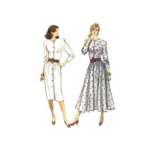 1980s Misses Straight or Flared Skirt Dress Butterick 5724 Vintage Sewing Pattern Size 8 - 10 - 12