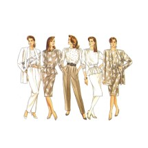 Misses Jacket Top Skirt Pants Butterick 5728 Vintage Sewing Pattern Size 12 - 14 - 16