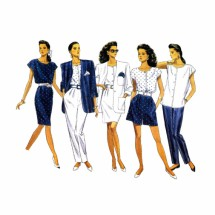 Misses Jacket Top Skirt Shorts Pants Butterick 6450 Vintage Sewing Pattern Size 12 - 14 - 16
