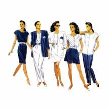 Misses Jacket Top Skirt Shorts Pants Butterick 6450 Vintage Sewing Pattern Size 12 - 14 - 16