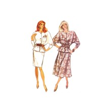 Misses Loose Fitting Top and Tapered or Flared Skirt Butterick 6669 Vintage Sewing Pattern Size 12 - 14 - 16