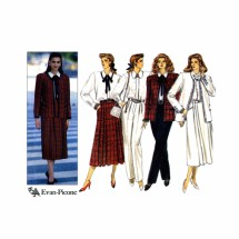 Evan-Picone Misses Jacket Blouse Skirt Pants Butterick 4313 Vintage Sewing Pattern Size 12 - 14 - 16