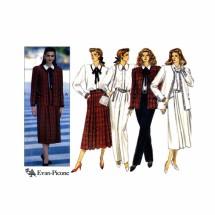 Evan-Picone Misses Jacket Blouse Skirt Pants Butterick 4313 Vintage Sewing Pattern Size 12 - 14 - 16