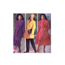Misses Wrap Coat and Belt Essence Collection Butterick 4388 Vintage Sewing Pattern Size 6 - 8 - 10 - 12 - 14