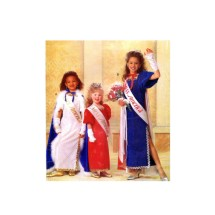 Girls Cape Dress Gloves Miss America Costume Butterick 5015 Vintage Sewing Pattern Size 4 - 6 - 8 - 10 - 12 - 14