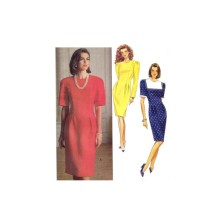 1990s Misses Loose Fitting Straight Dress Butterick 5312 Vintage Sewing Pattern Size 6 - 8 - 10