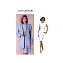 Jessica Howard Misses Below Hip Jacket Tapered Dress Butterick 5352 Vintage Sewing Pattern Size 12 - 14 - 16